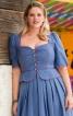 Сукня в баварському стилі з баскою - фото 4