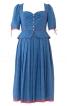 Сукня в баварському стилі з баскою - фото 2