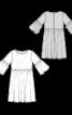 Сукня із завищеною талією і оборками на рукавах - фото 3