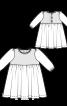Сукня з пишною спідницею і довгими рукавами - фото 3