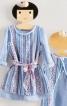 Сукня А-силуету з одворотами на рукавах - фото 1