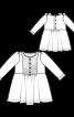 Сукня відрізна зі стьобаним пластроном - фото 3