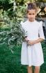 Сукня мереживна з оборками і коміром-стійкою - фото 1