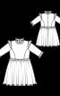 Сукня мереживна з оборками і коміром-стійкою - фото 3