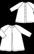 Платье А-силуэта со сквозной застежкой на спинке - фото 3