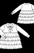 Сукня-сорочка з довгими рукавами і оборками - фото 3