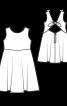 Сукня відрізна із зав'язкою на спинці - фото 3