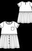 Сукня з короткими рукавами і пишною спідницею - фото 3