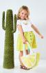 Сукня з короткими рукавами і пишною спідницею - фото 1