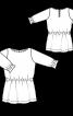 Сукня трикотажна з куліскою на талії - фото 3
