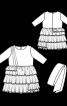 Сукня відрізна з пишними оборками - фото 3