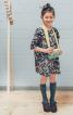 Сукня розкльошеного силуету з рукавами - фото 1