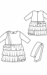Сукня з пишною спідницею і поясом-бантом - фото 3