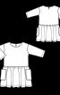 Сукня прямого силуету з пишною спідницею - фото 3