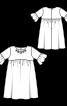 Сукня силуету ампір з оборками на рукавах - фото 3