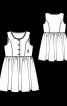 Платье отрезное в этно-стиле - фото 3