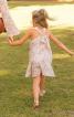 Сукня розкльошена з бантом на бретелях - фото 4