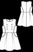 Сукня букле із широкою спідницею - фото 3