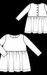 Сукня в клітину з пишною спідницею - фото 3