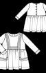 Сукня відрізна з ручною вишивкою - фото 3