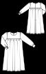 Платье расклешенное с длинными рукавами - фото 3