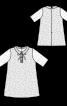 Сукня мереживна з відкладним комірцем - фото 3