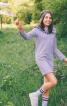 Сукня трикотажна із вигнутою кокеткою - фото 1
