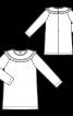 Сукня трикотажна із вигнутою кокеткою - фото 3