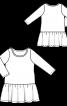 Платье трикотажное с широкой оборкой - фото 3
