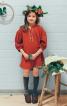 Сукня з коміром-стійкою і вишивкою - фото 1
