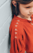 Сукня з коміром-стійкою і вишивкою - фото 4