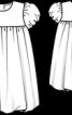 Сукня з рукавами-ліхтариками і спідницею-балон - фото 3