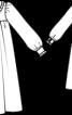 Сукня силуету ампір з круглим коміром - фото 3