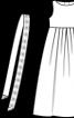 Сукня довга силуету ампір із нижньою спідницею - фото 3