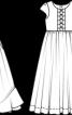 Сукня з нижньою спідницею і широким поясом-бантом - фото 3