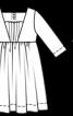 Сукня силуету ампір з поясом - фото 3