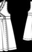 Сукня без рукавів з запахом - фото 3