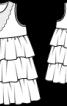 Сукня силуету ампір з ярусами оборок - фото 3