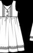 Сукня відрізна з поясом-бантом - фото 3