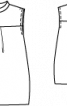 Сукня силуету балон з коміром-стойкою - фото 3