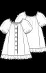 Сукня А-силуету з рукавами реглан - фото 3