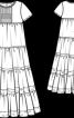 Сукня з багатоярусною спідницею і прикраса для волосся - фото 3