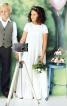 Сукня з багатоярусною спідницею і прикраса для волосся - фото 1