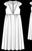 Довга сукня з широким поясом-бантом - фото 3