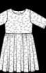 Сукня зі знімним коміром і спідницею-сонце - фото 3