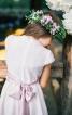 Довга сукня з широким поясом-бантом - фото 4