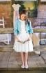 Сукня зі знімним коміром і спідницею-сонце - фото 4
