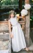 Довга сукня з широким поясом-бантом - фото 1