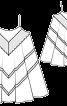 Сукня розкльошеного крою на бретелях - фото 3