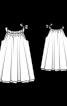 Сукня А-силуету на бретелях - фото 3